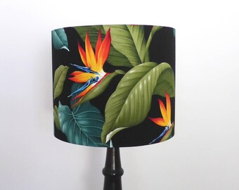 Bird Of Paradise Lampshade   Tropical Lamp Shade   Handmade in Australia