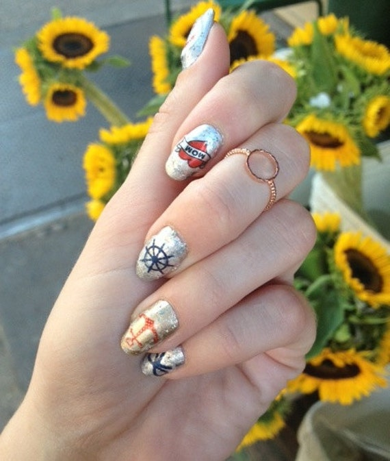Nautical Nail Decals