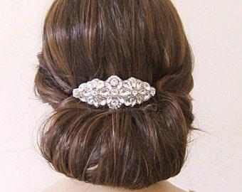 Wedding hair comb, bridal headpiece, bridal hair comb, crystal hair comb, bridal hair piece, wedding hair piece