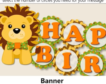 Zoo birthday banner Etsy