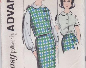 Teens' Blouse, Skirt & Vest Pattern Advance 2781 Junior Size 16 Uncut