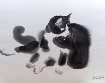 Bubi my tuxedo cat