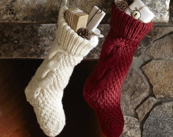Personalized Christmas Stocking Christmas Stocking Christmas decoration Hand knit Christmas Stocking,Knitted Christmas Stocking,Stocking