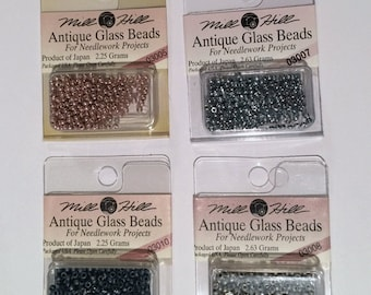 Clearance - Mill Hill Antique Glass Beads Colors 3004-3050