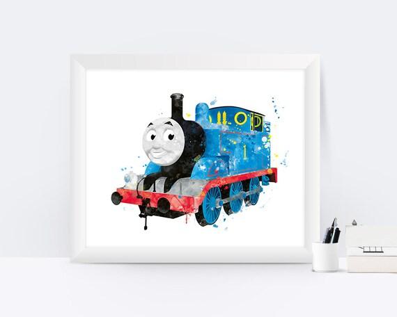 Thomas der Zug Thomas Art Print Aquarell Zug-Party Thomas