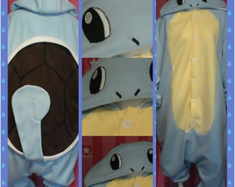 Squirtle Inspired Kigurumi/Squirtle Pokemon Inspired Onesie/Squirtle Costume/Squirtle Cosplay/Squirtle Suit/Adult Onesie/MADE TO ORDER