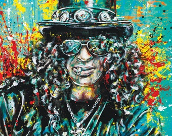 "Slash - ""Ain't Life Grand"" - 12 x 18 High Quality Pop Art Print"