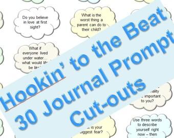 Journal Prompts (Clouds-2) - Bullet Journal Insert - INSTANT DOWNLOAD - Pastel