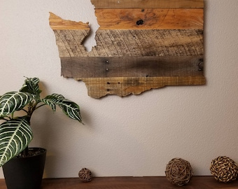 Washington State Sign - Reclaimed Wood - Pallet Sign - Rustic Home Decor - Wall Art
