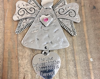 Mother-Daughter ornament, The love between a mother and daughter is forever ornaments,Memorial for mother or daughter, gift for mom daughter