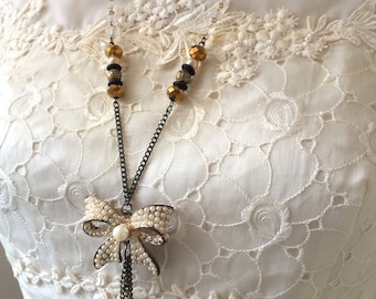 Repurposed Necklace - Vintage-style Necklace - Old-fashioned Necklace