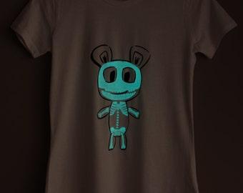 Skeleton Teddy Glow-in-the-dark Woman T-shirt