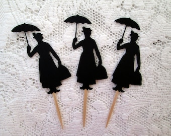 Mary Poppins Cupcake Toppers, Food Picks