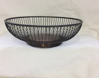 Wire basket, Silver plated basket, Bread basket, Fruit basket, W.A.Rogers, Italy, Wedding basket, Serving basket