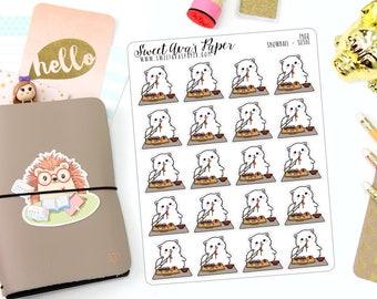 Sushi Planner Stickers - Dinner Planner Stickers - Cat Planner Stickers - Raw Fish Planner Stickers - Hand Drawn - 1400