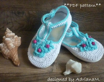Crochet pattern -outdoor sandals for kids,all children sizes,shoes,footwear,toddlers,girl,street shoes,rubber soles,Mary Jane,espadrille