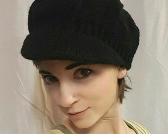 Newsboy hat in Black