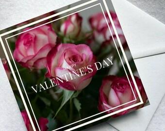 Flower greeting card - Valentine