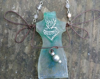 Dressform Fairy seafoam ornament