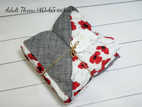 Weighted Blanket For Adult 40in X 65in Beautiful Poppy