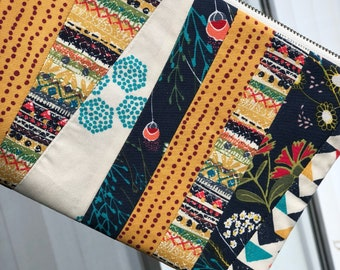 Indie Folk Boho Cosmetic Bag, Essential Oils Bag, Zippered Pouch, Carry all Bag