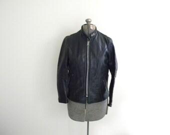 Vintage Black Leather LESCO Coat