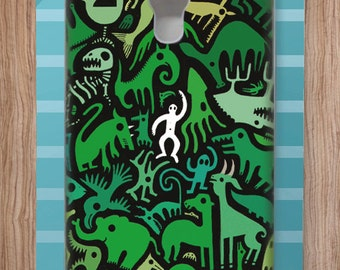 Adam Fisher Monsters case for Samsung S4