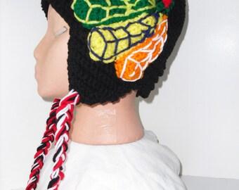 Ultimate Adult Size  Blackhawks Earflap Hat