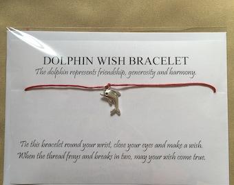 Dolphin wish bracelet, friendship bracelet, best friend gift, gift for her