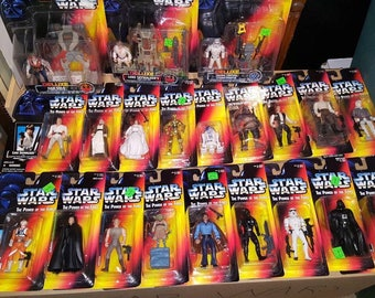 """Vintage STAR WARS - The Power of the Force, 3 3/4"""" Action Figures. You Pick! New in Package, 1995-96 Star Wars Figures"""