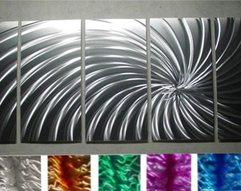 "Painting a Metal Wall Art Sculpture by Nider the Internationally Acclaimed Artist of Contemporary Decor 64""W x 24""H - Silver WoW"