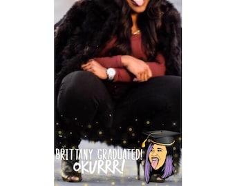 Cardi B. Okurrr Graduation Snapchat Filter Hip Hop Snap Chat Geofilter High School College Gold
