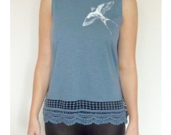 Blue Swallow top
