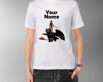 How To Train Your Dragon Personalised Kids Tee T-Shirt T Shirt