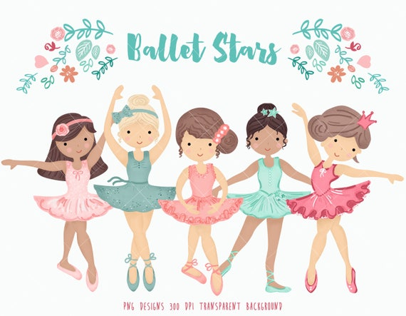 ballerina clipart personal and commercial use little rh etsy com ballerina clipart png ballerina clipart black and white