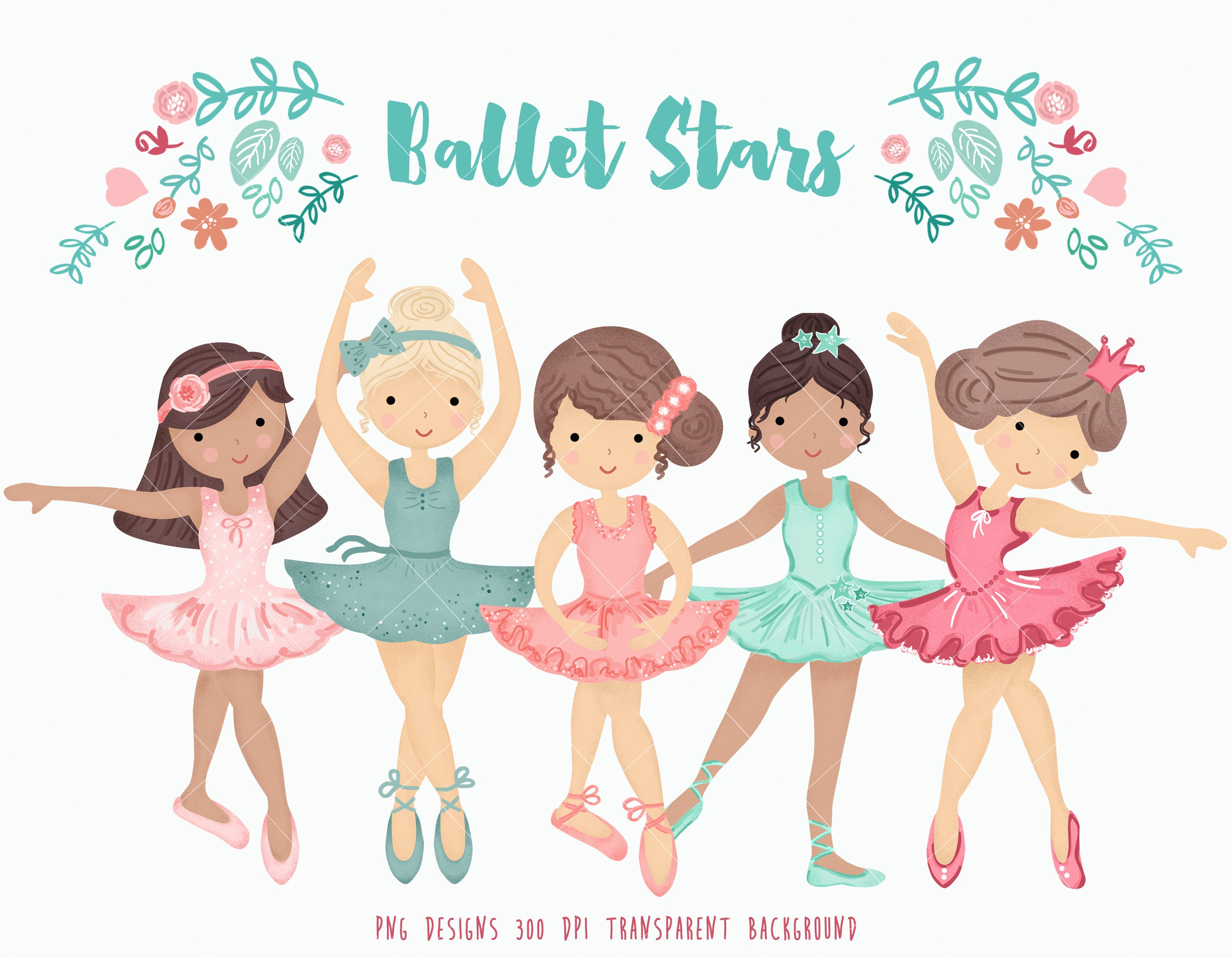 Ballerina Clipart Personal and Commercial use Little