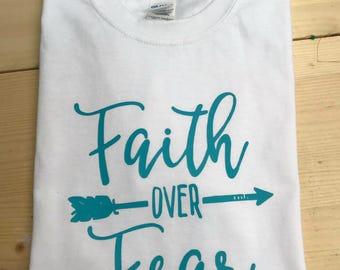 Faith over Fear Short Sleeve Shirt