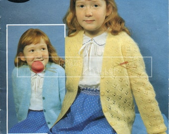 "Girl's Cardigans 22-32"" DK Sirdar 4432 Knitting Pattern PDF instant download"