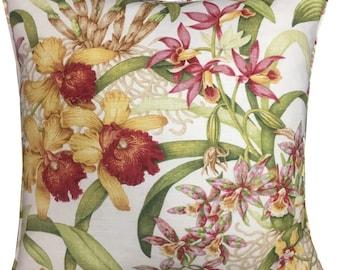 """5th Avenue Covington 'Wild Orchid' Linen Cushion Pillow Covers 18"""" (45cm)"""