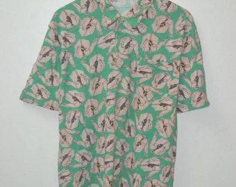 Vintage Polo Ralph Lauren neck tie full print shirt