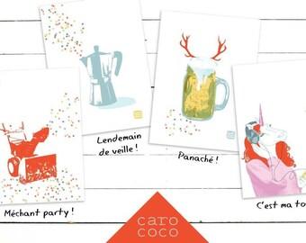 Carococo/ party kit! / série de carte souhait 5x7 par Carol-Anne Pedneault