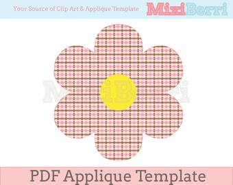 Sweet Flower Applique Template Instant Download