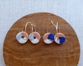 Trio Disc Hoop Earrings...