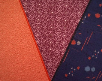 Vintage Japanese kimono fabric pack for craftwork patchwork quilting VP27