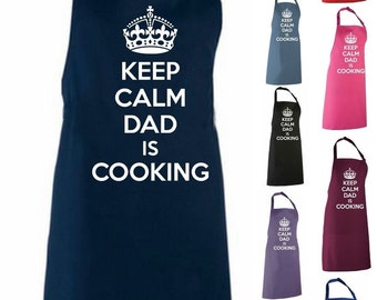 Keep Calm Dad Is Cooking Adult Novelty Apron - Father's Day Gift For Dad Dad Cooking Apron