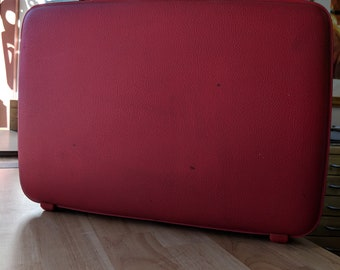 Vintage Red American Tourister Briefcase