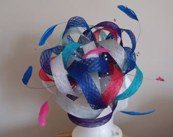 Cool colours loopy fascinator