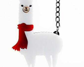 Winter Alpaca necklace