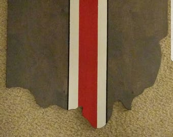 """Ohip State Buckeyes, Ohio cut out 17""""x17"""" OSU colors"""