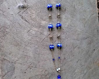 Lampwork Blues Necklace
